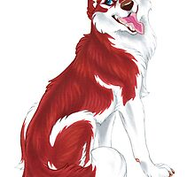 Red Siberian Husky (no text) by Mayra Boyle