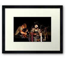 Live, On Stage Framed Print