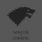 Winter Is Coming - Game of Thrones - Gray by MCellucci