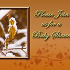 Please Join Us For A Baby Shower Leaf by jkartlife