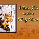 Please Join Us For A Baby Shower Leaves by jkartlife