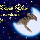 Thank You For The Shower Gift Bunny Rabbit by jkartlife