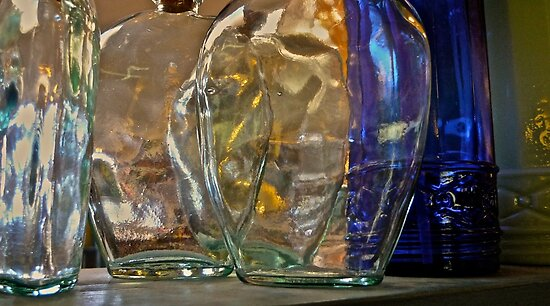 Old Glass Bottles by Scott Johnson