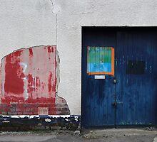 Blue Door / Red Wall by Adam Wain
