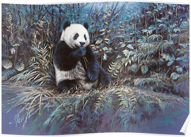 'At peace-Giant panda' by steve morvell