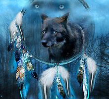 Dream Catcher - Midnight Spirit by Carol  Cavalaris