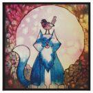 Moon Cat Watercolour by trossi