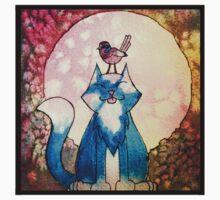 Moon Cat Watercolour Kids Clothes