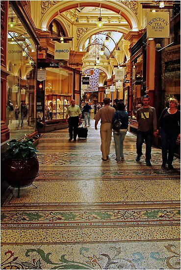 """Block Arcade - Melbourne"". by David Lamplough"