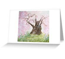 Jindai Zakura (2000 year-old cherry tree) Greeting Card