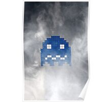Pac-Man Blue Ghost Poster