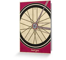 Single Speed Bicycle Greeting Card