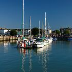 Eastern Side Moorings, Ryde Harbour by Rod Johnson