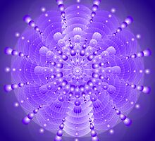 Healing Mandala Electric Violet Blue Light by shoffman
