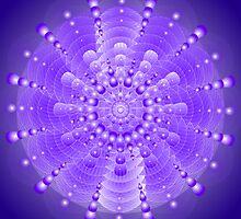 Healing Mandala Electric Violet Blue Light by Sarah Niebank