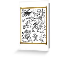 Jester Scribble Greeting Card