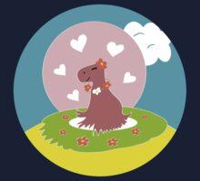 Capybara in Love Kids Clothes
