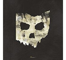 SKULLHIO - Ohio Shaped Skull Photographic Print