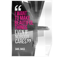 Creative Quote Design 001 Saul Bass Poster