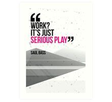 Creative Quote Design 002 Saul Bass Art Print
