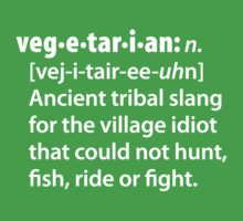 Vegetarian definition dictionairy by LaundryFactory