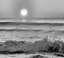 We Danced Like A Wave On The Ocean B&W by Dawne Dunton