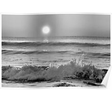 We Danced Like A Wave On The Ocean B&W Poster