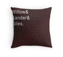 The Scoobies, Buffy the Vampire Slayer Throw Pillow