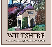 Gothic Cottage, Stourhead gardens, wilts by Moira Ladd