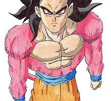 Goku SSJ4 by demoose