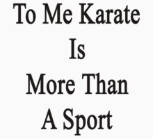 To Me Karate Is More Than A Sport by supernova23