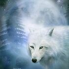 White Wolf - Moon Spirit 1 by Carol  Cavalaris