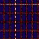 00434 Bacon Blue Tartan Fabric Print Iphone Case by Detnecs2013