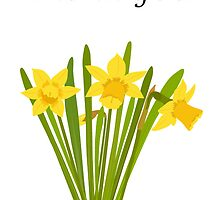 Thank you / Daffodils by AllJDesigns