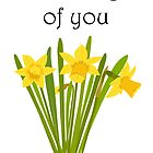 Thinking of you / Daffodils by Jacqueline Turton