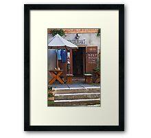 Beer Garden Framed Print