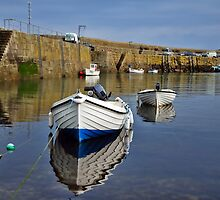 Mousehole Harbour Evening by Susie Peek
