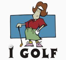 I Golf Women's by SportsT-Shirts