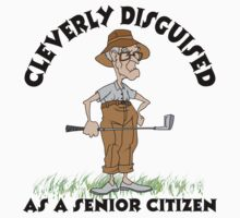 Golfer Senior Citizen by SportsT-Shirts