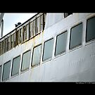 Park City Ferry Windows Detail - Port Jefferson, New York  by © Sophie W. Smith