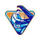 Automobile Mechanic Repair Car Retro by retrovectors