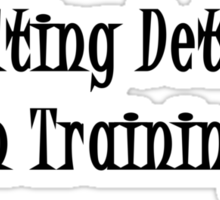 Consulting Detective In Training- Black Sticker