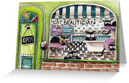 The Cat Beautician by StressieCat