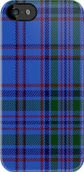 00453 Bermuda Blue District Tartan Fabric Print Iphone Case by Detnecs2013