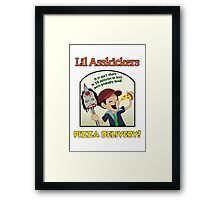 Lil Asskickers Pizza Delivery Framed Print