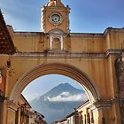 Volcano through the arch by Jeanne Frasse