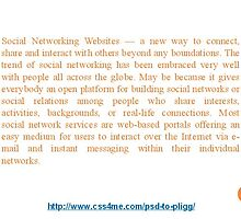 2.   Acquaint with Social Networking Websites by nels201