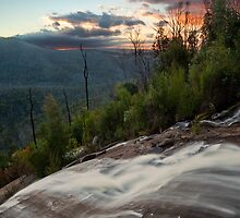 Wilhelmina Falls Sunset by Travis Easton