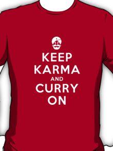 Keep Karma And Curry On T-Shirt