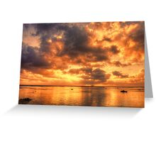 The sky is on fire Greeting Card